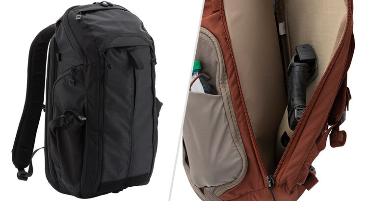 best vertx backpack with hand gun compartment