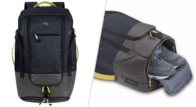 solo new york backpack with shoe compartment
