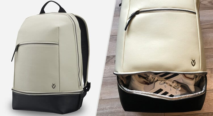 vessel signature backpack with shoe compartment