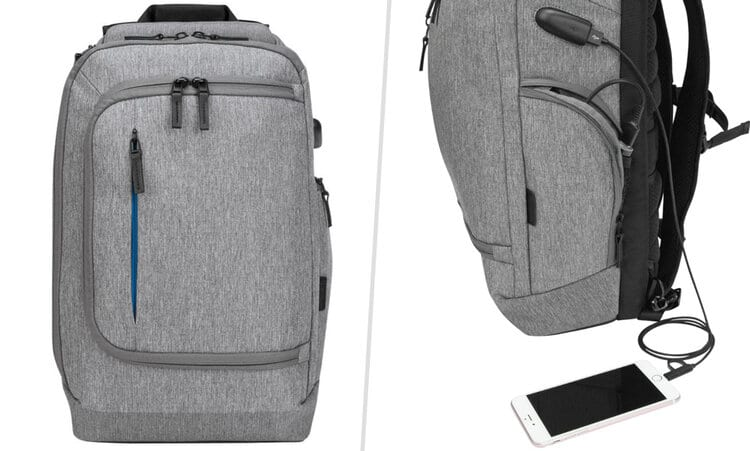 how to use backpack with usb charging port